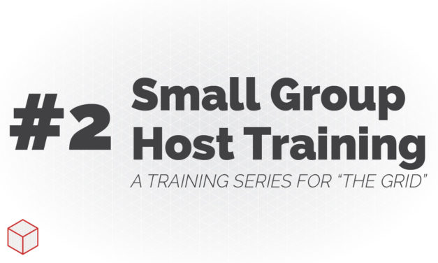 Small Group Host Training – How to Help People Feel Welcome