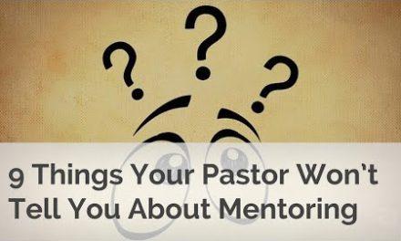 あなたの牧師はメンターリングについて教えてくれません