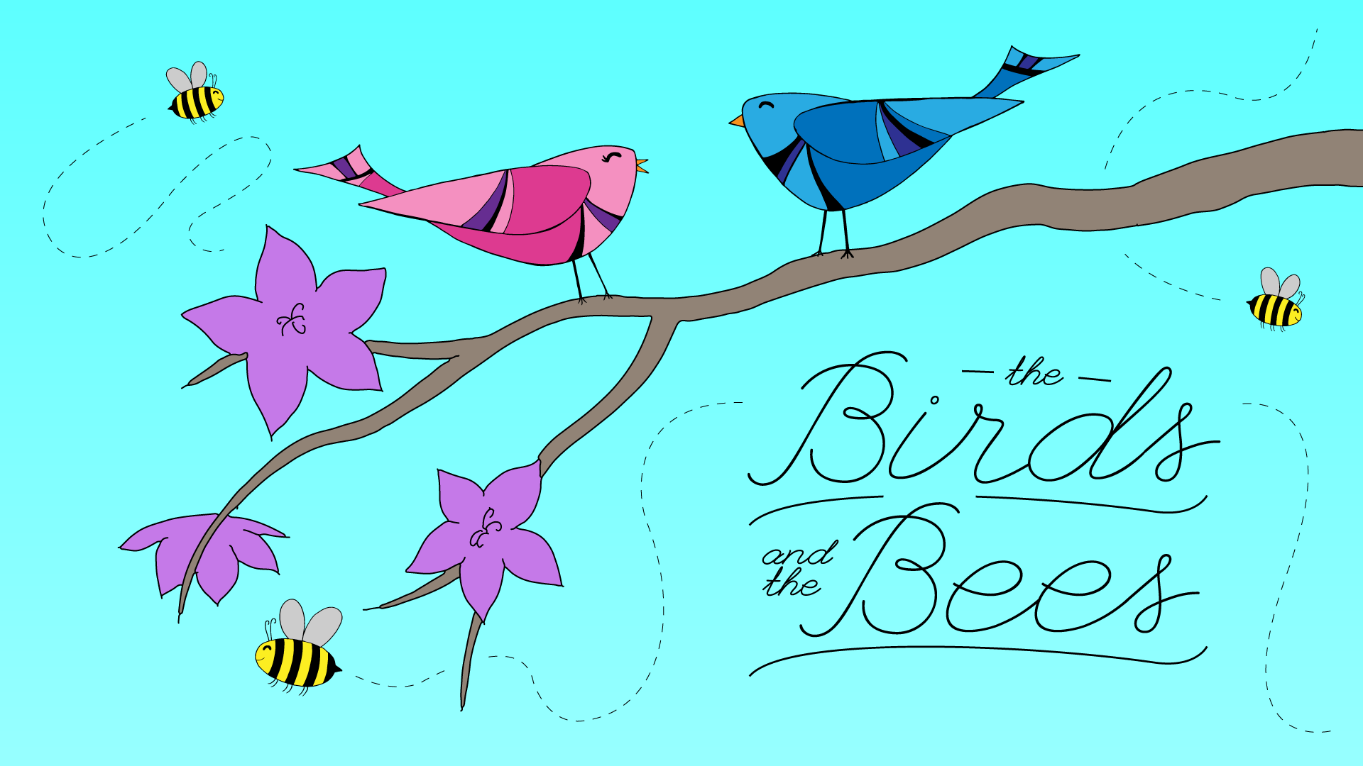 Los pájaros y las abejas para niños