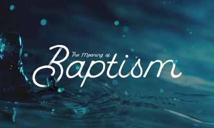 La signification du baptême