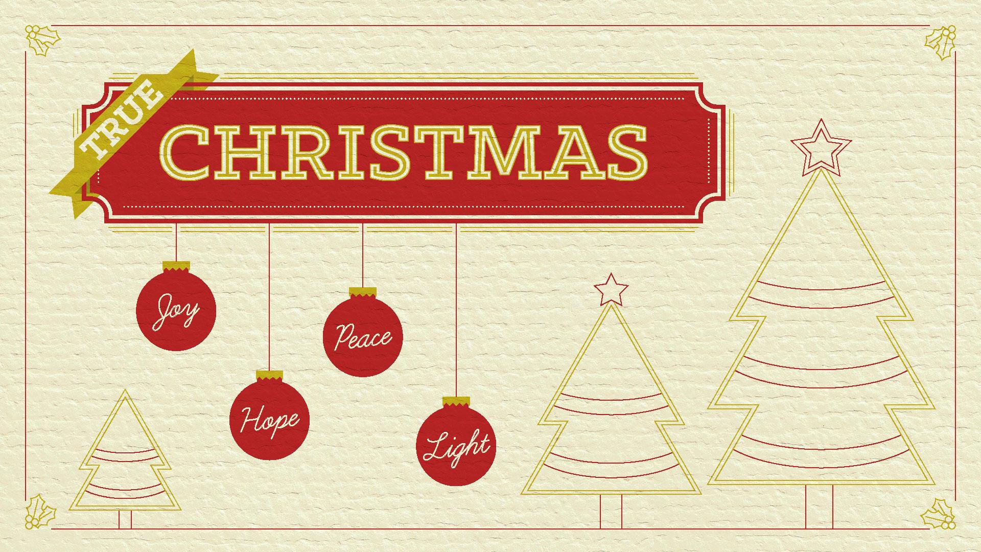 真のクリスマス:喜び
