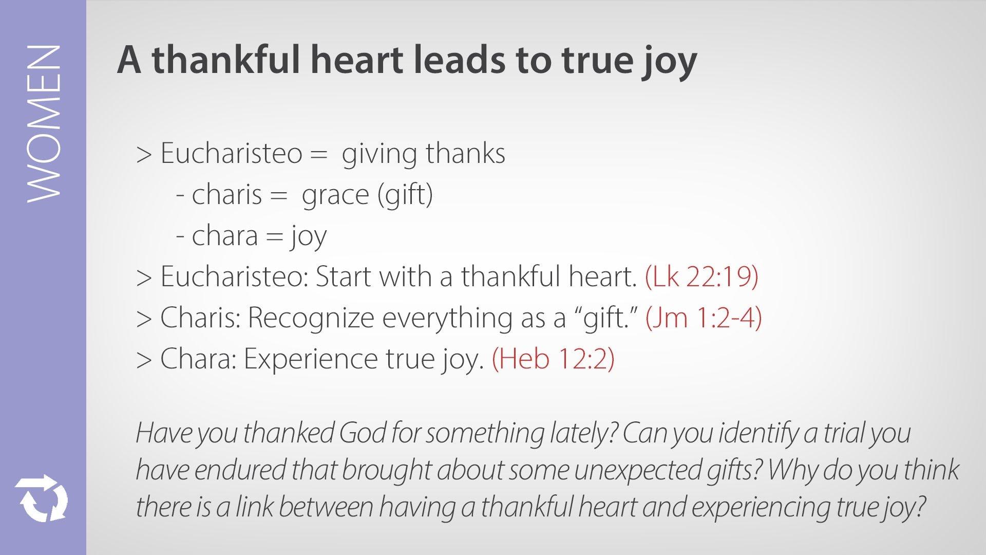 A Thankful Heart Leads to True Joy
