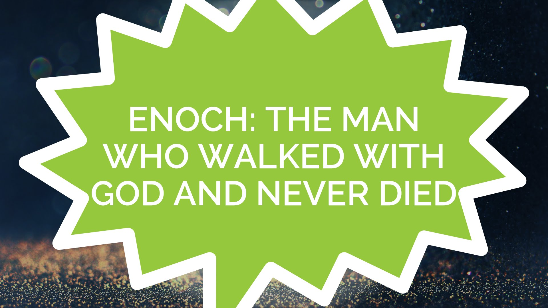 Enoch Walked With God Craft