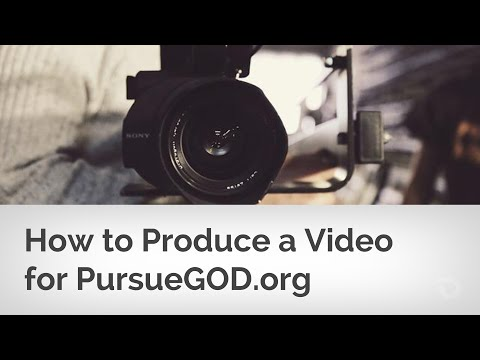 How to Edit a Video for the PG Production Team