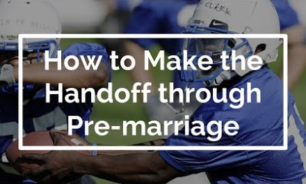 How to Make a Mentoring Handoff through Premarital Counseling