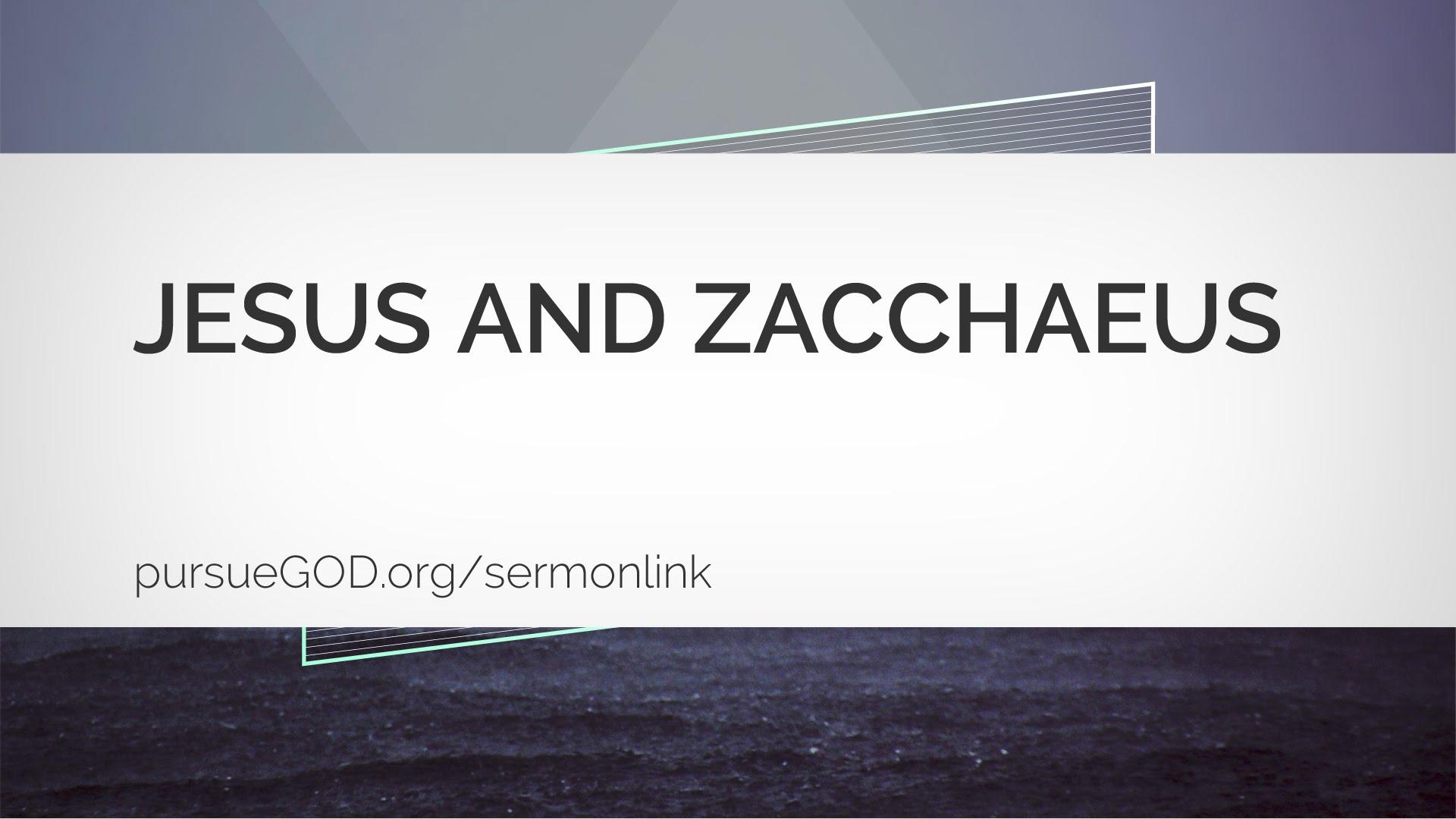 Jesus and Zacchaeus