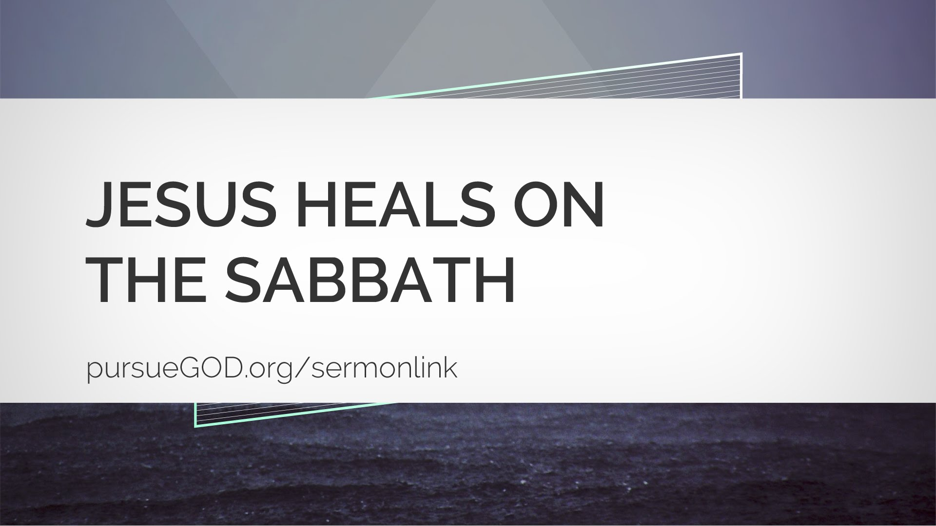 Jesus Heals on the Sabbath