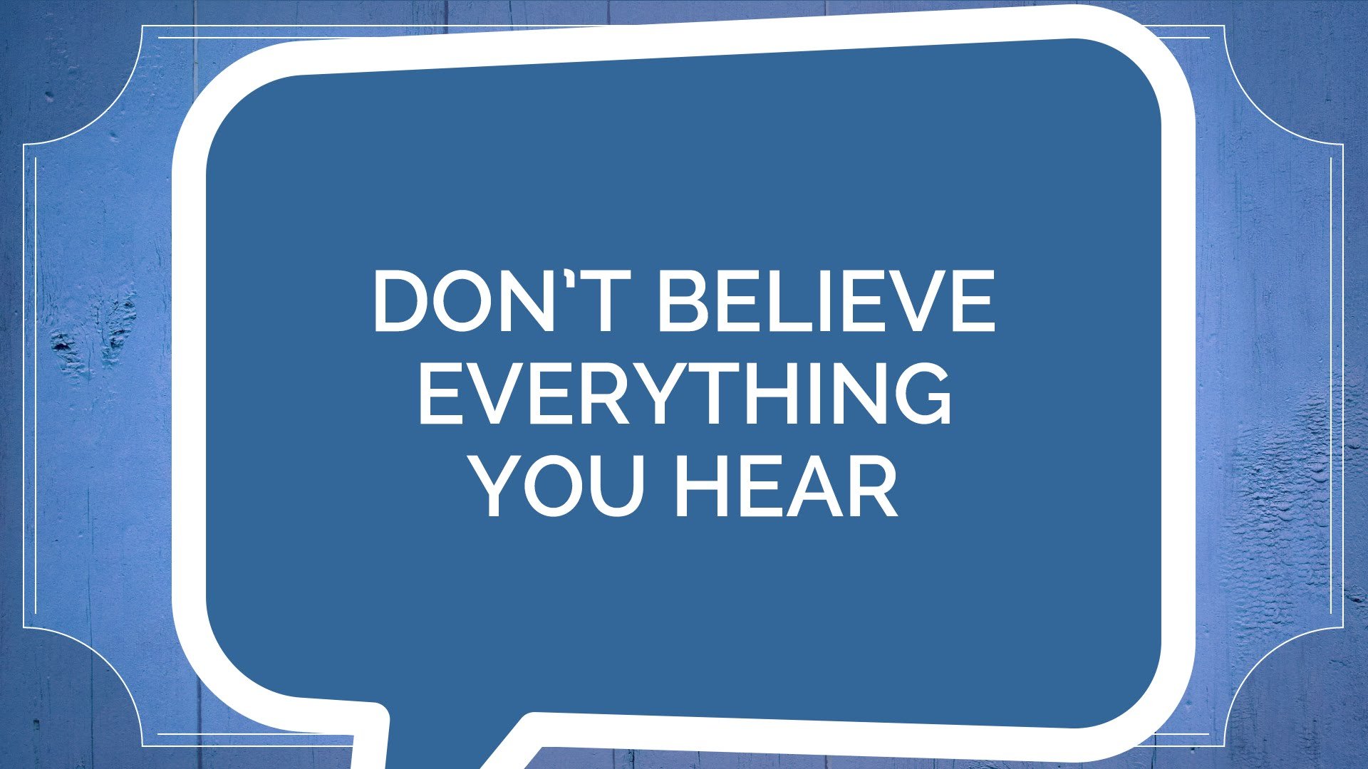 Jude #1: Don't Believe Everything You Hear (Youth)