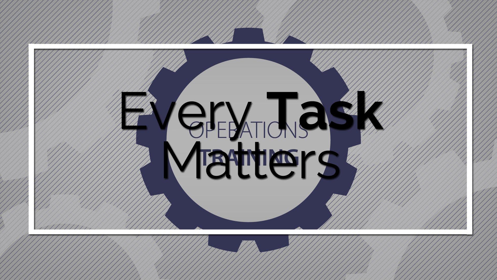 Entrenamiento de operaciones: cada tarea es importante