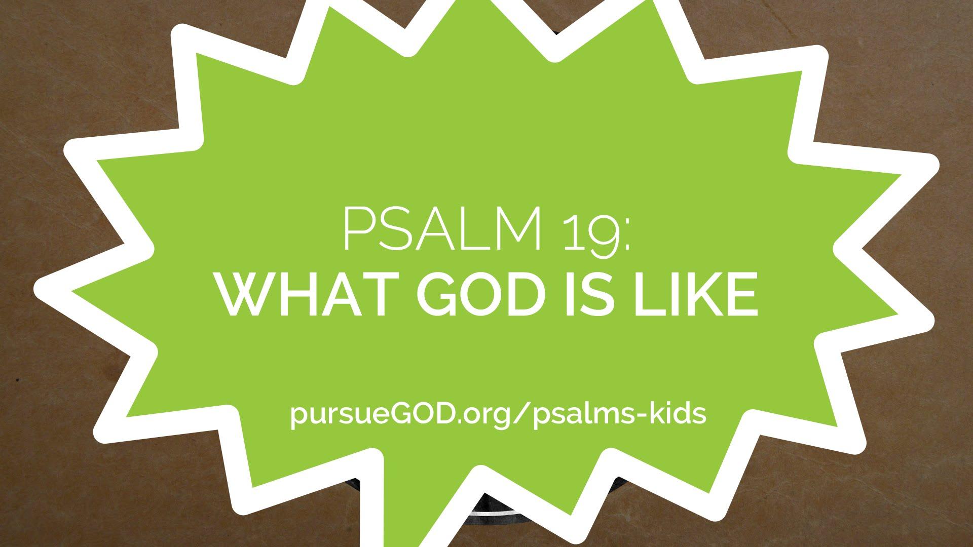 Psalm 19- How God Speaks (Kids)