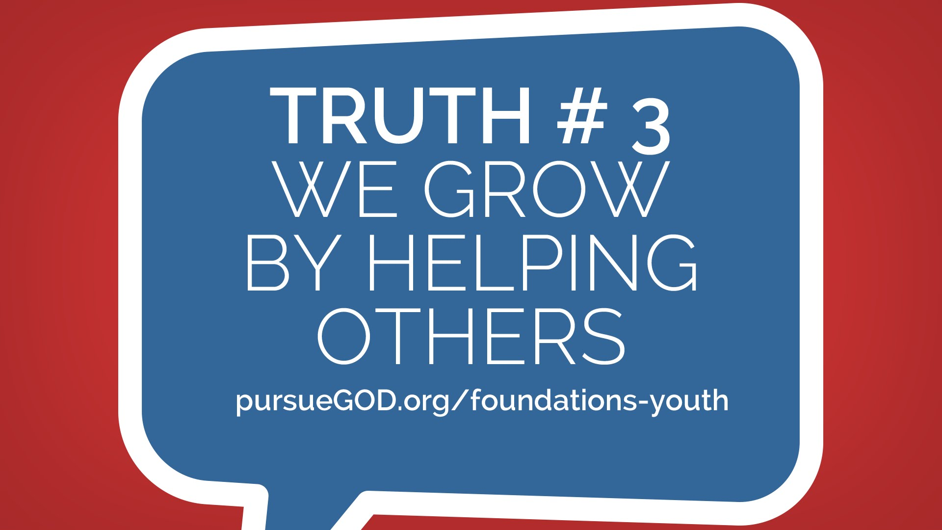 We Grow By Helping Others (Youth)