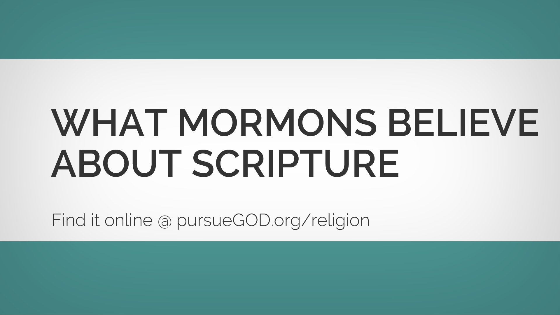 What Mormons Believe about Scripture