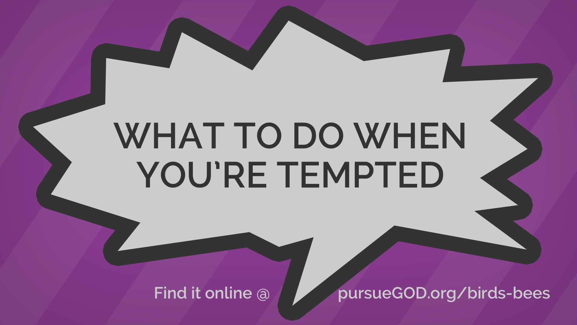 What to Do When You're Tempted (Kids)