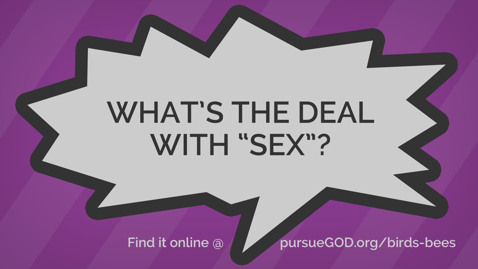 What's the Deal with Sex? (Kids)