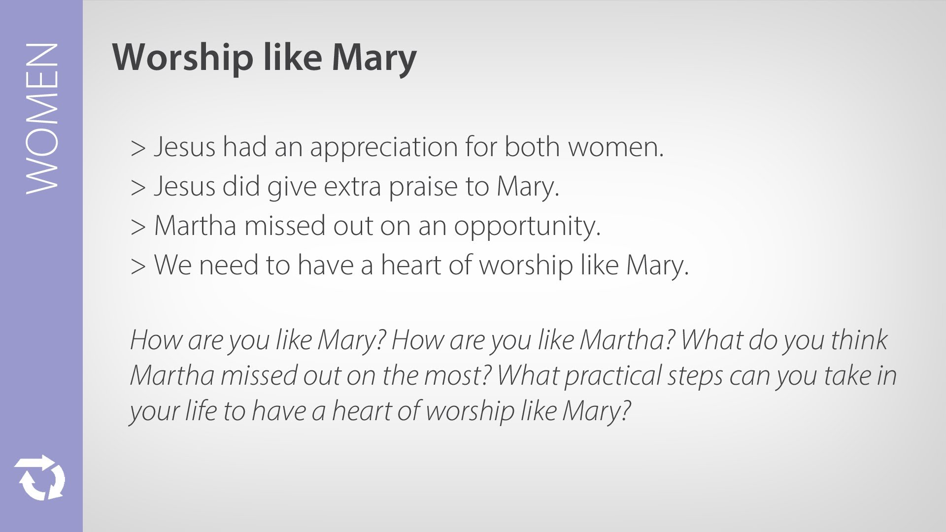 Women – Worship Jesus Like Mary Did