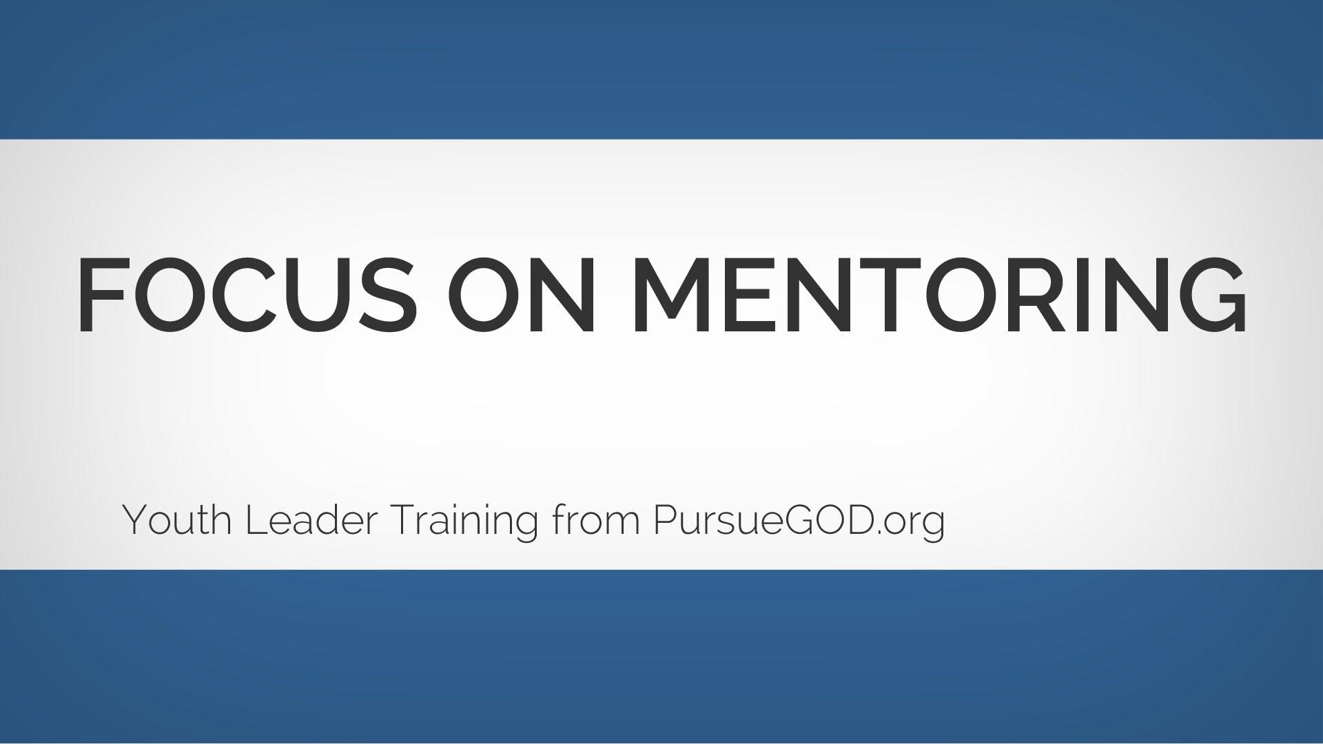 青少年リーダー養成:メンターリングに焦点を当てる